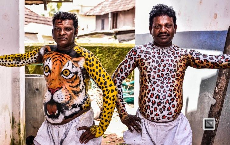 Pulikali Festival Thrissur Kerala 2015-39