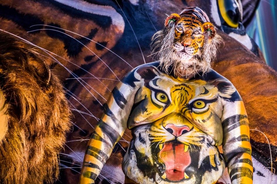 Pulikali Festival Thrissur Kerala 2015-76