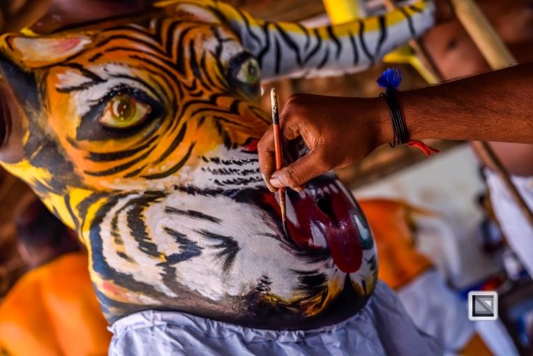 India - Kerala - Thrissur - Onam Festival - Pulikali-11