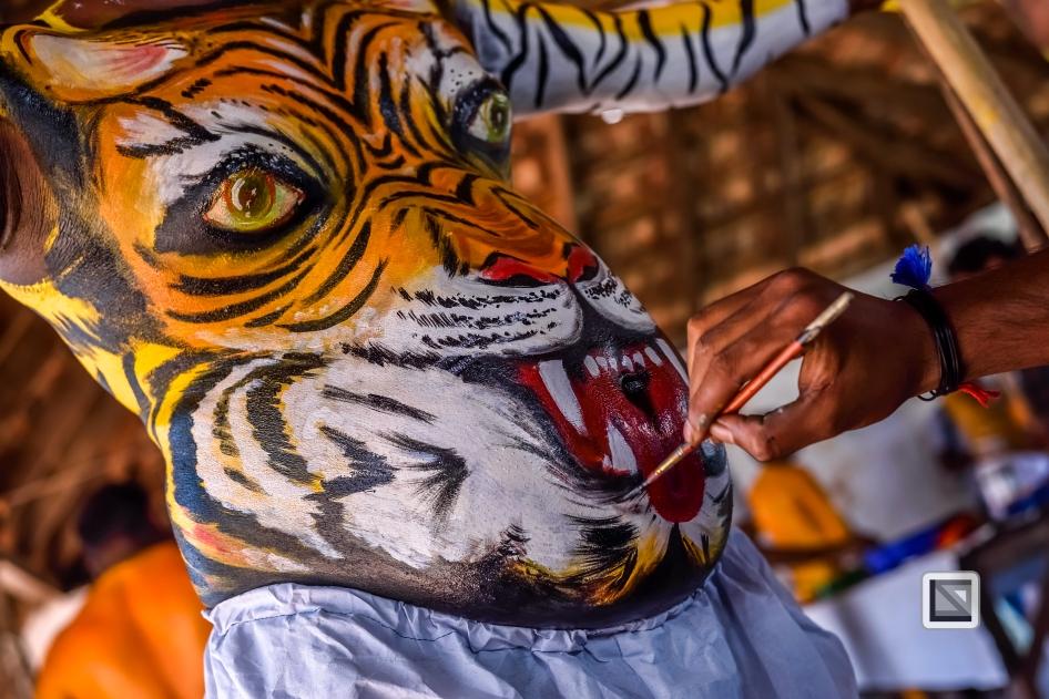 India - Kerala - Thrissur - Onam Festival - Pulikali-12
