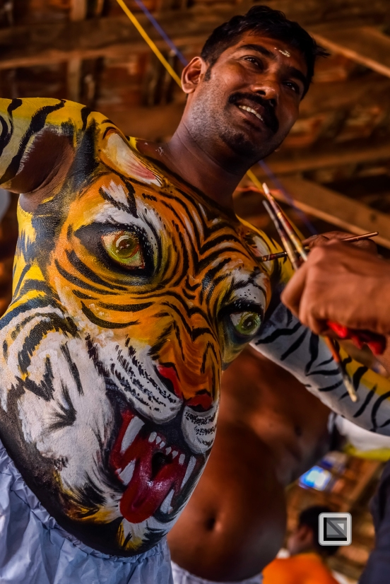 India - Kerala - Thrissur - Onam Festival - Pulikali-13