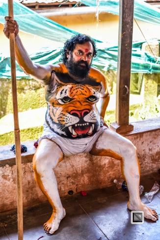 India - Kerala - Thrissur - Onam Festival - Pulikali-17