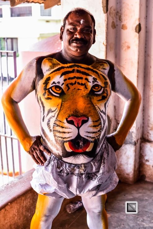 India - Kerala - Thrissur - Onam Festival - Pulikali-22