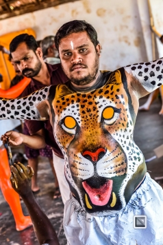 India - Kerala - Thrissur - Onam Festival - Pulikali-23