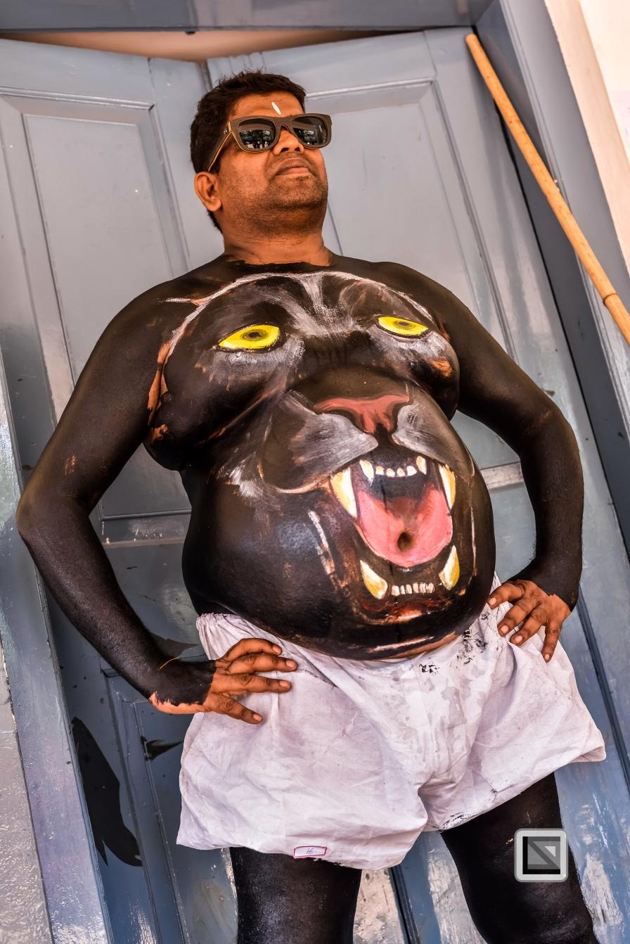 India - Kerala - Thrissur - Onam Festival - Pulikali-27