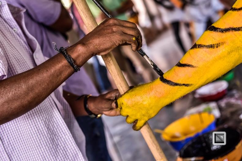 India - Kerala - Thrissur - Onam Festival - Pulikali-31