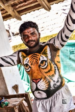 India - Kerala - Thrissur - Onam Festival - Pulikali-33