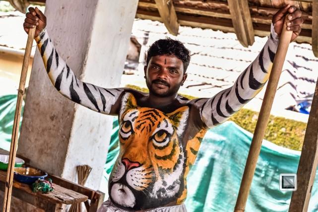India - Kerala - Thrissur - Onam Festival - Pulikali-34