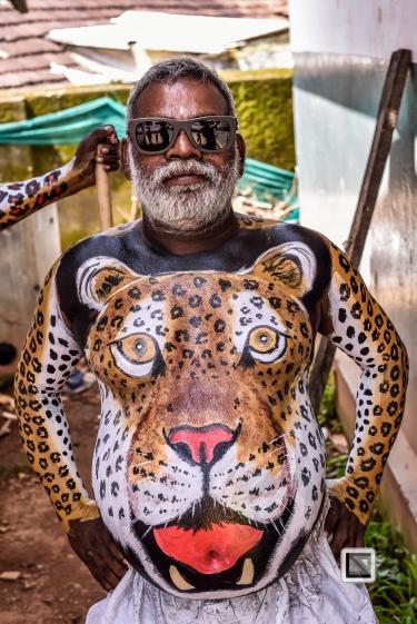 India - Kerala - Thrissur - Onam Festival - Pulikali-36