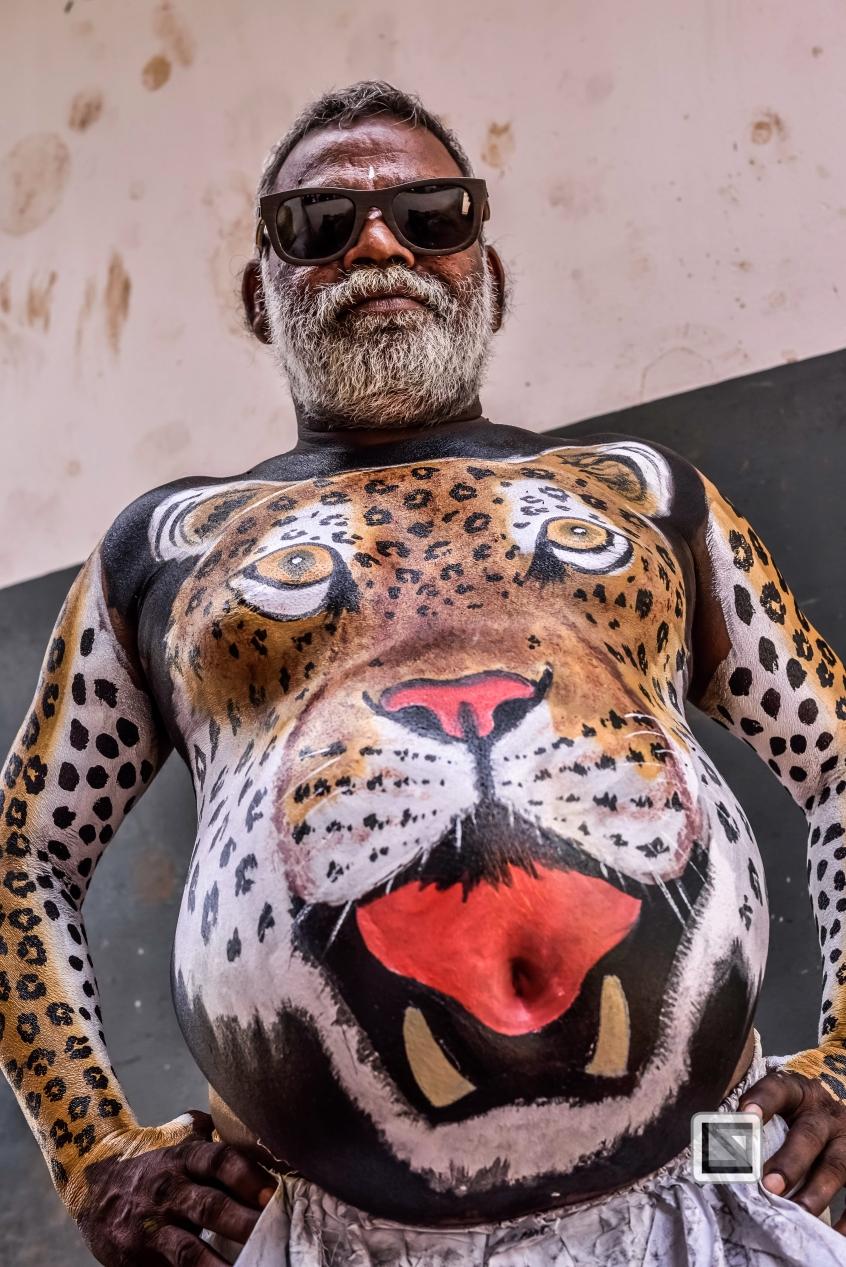 India - Kerala - Thrissur - Onam Festival - Pulikali-37