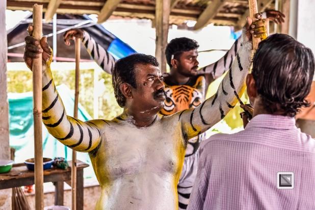 India - Kerala - Thrissur - Onam Festival - Pulikali-40