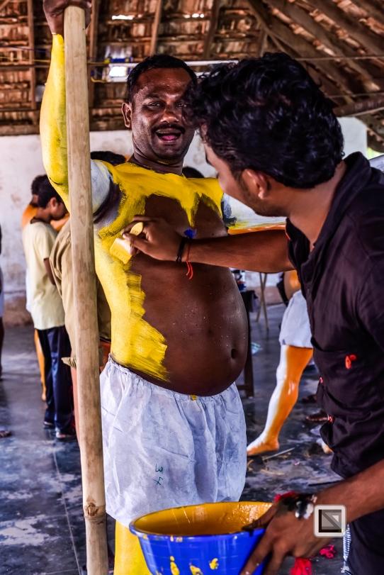 India - Kerala - Thrissur - Onam Festival - Pulikali-41