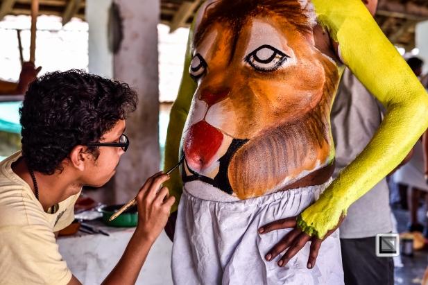 India - Kerala - Thrissur - Onam Festival - Pulikali-5