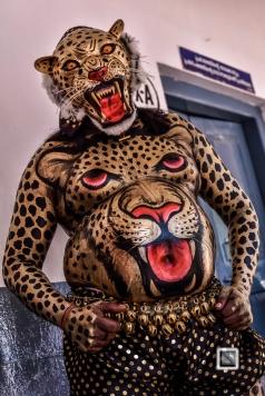 India - Kerala - Thrissur - Onam Festival - Pulikali-52