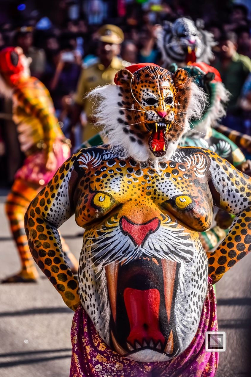 India - Kerala - Thrissur - Onam Festival - Pulikali-55
