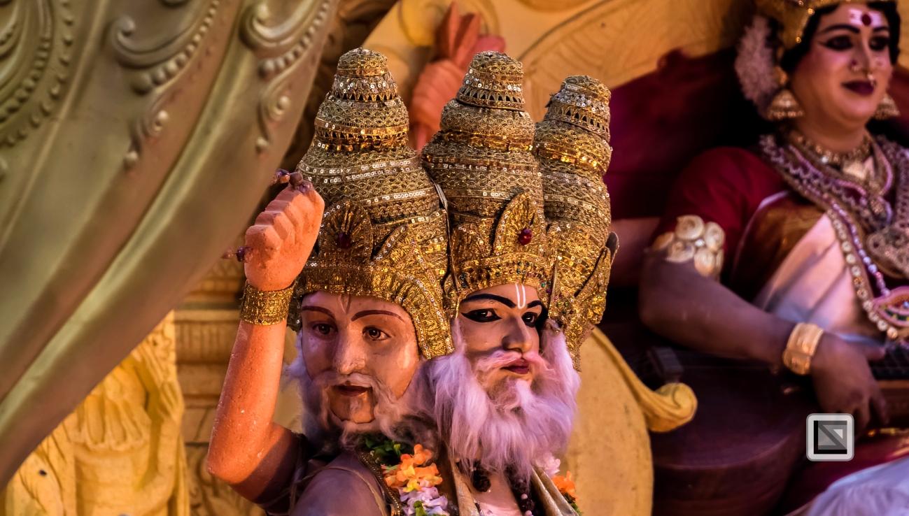 India - Kerala - Thrissur - Onam Festival - Pulikali-61