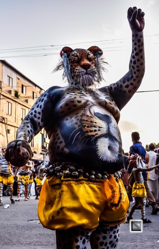 India - Kerala - Thrissur - Onam Festival - Pulikali-65