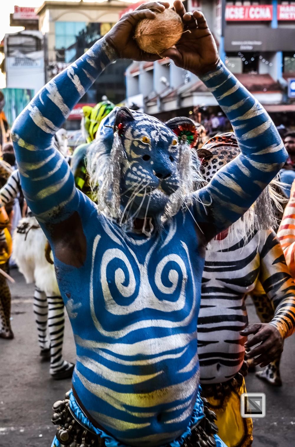 India - Kerala - Thrissur - Onam Festival - Pulikali-69