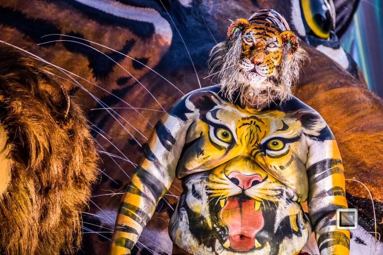 India - Kerala - Thrissur - Onam Festival - Pulikali-71