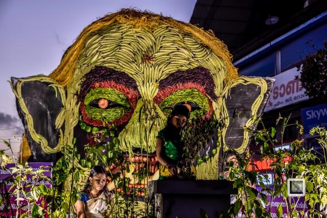 India - Kerala - Thrissur - Onam Festival - Pulikali-76