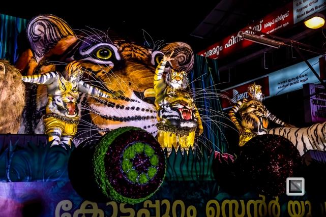 India - Kerala - Thrissur - Onam Festival - Pulikali-80