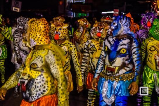 India - Kerala - Thrissur - Onam Festival - Pulikali-81