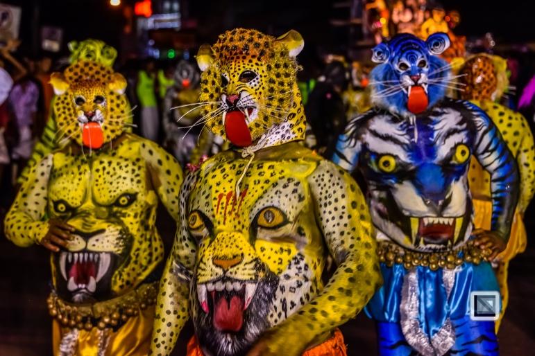 India - Kerala - Thrissur - Onam Festival - Pulikali-85