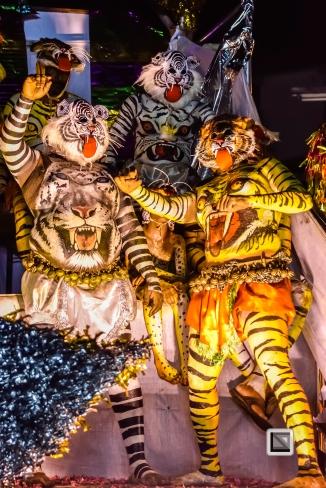 India - Kerala - Thrissur - Onam Festival - Pulikali-88
