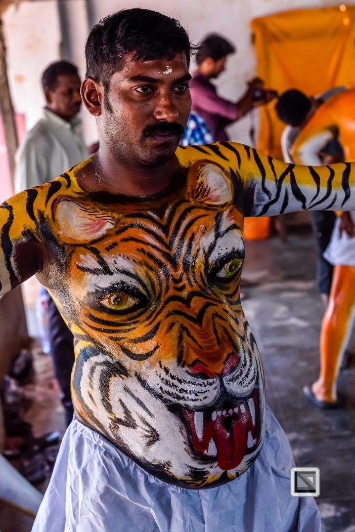 India - Kerala - Thrissur - Onam Festival - Pulikali-9