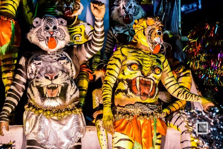 India - Kerala - Thrissur - Onam Festival - Pulikali-90