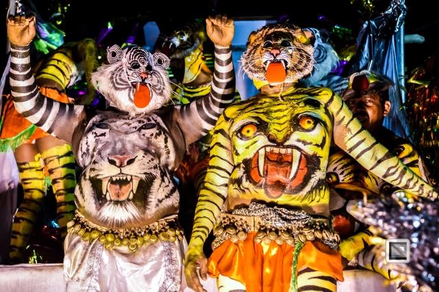 India - Kerala - Thrissur - Onam Festival - Pulikali-91