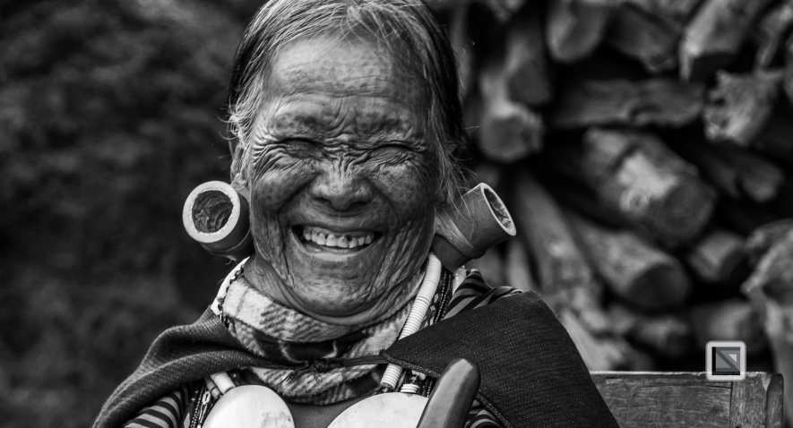 Myanmar Chin Tribe Portraits Black and White-10