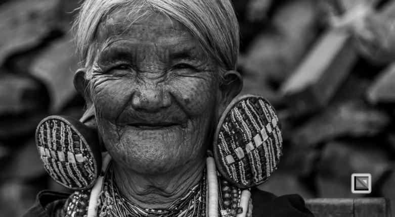 Myanmar Chin Tribe Portraits Black and White-11