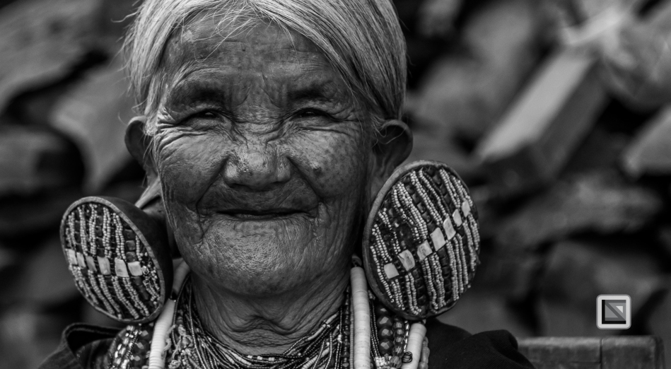 Myanmar Chin Tribe Portraits Black and White-11