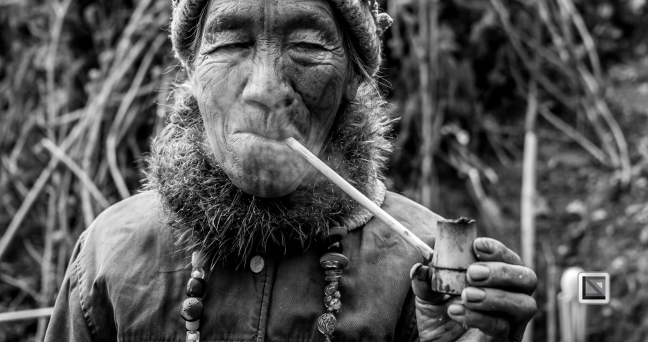 Myanmar Chin Tribe Portraits Black and White-15