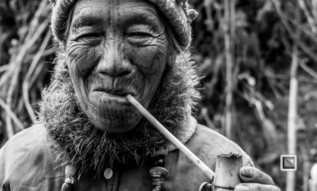 Myanmar Chin Tribe Portraits Black and White-16