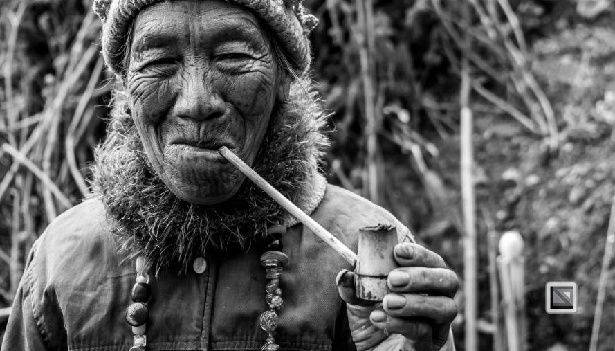 Myanmar Chin Tribe Portraits Black and White-17