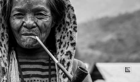 Myanmar Chin Tribe Portraits Black and White-18