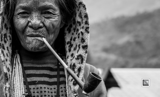 Myanmar Chin Tribe Portraits Black and White-19