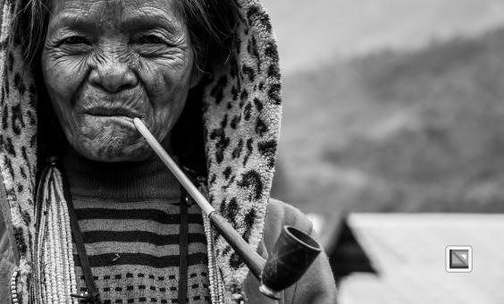 Myanmar Chin Tribe Portraits Black and White-19