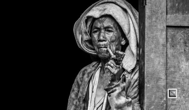 Myanmar Chin Tribe Portraits Black and White-2