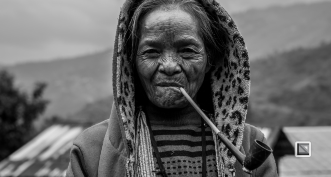 Myanmar Chin Tribe Portraits Black and White-20