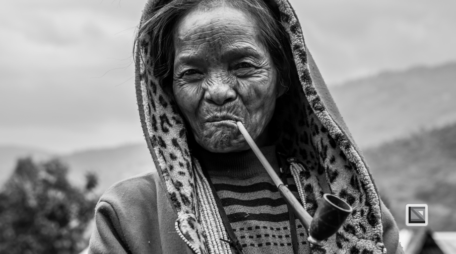 Myanmar Chin Tribe Portraits Black and White-21