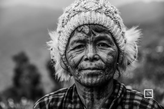 Myanmar Chin Tribe Portraits Black and White-22