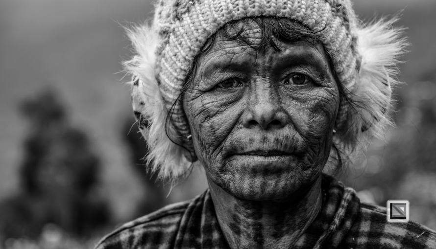 Myanmar Chin Tribe Portraits Black and White-23