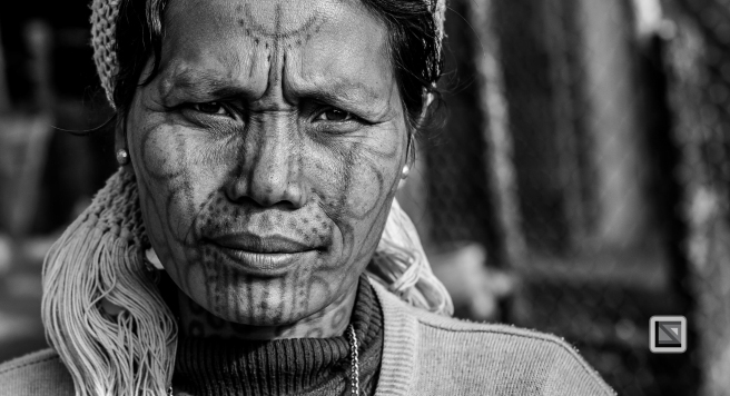 Myanmar Chin Tribe Portraits Black and White-24