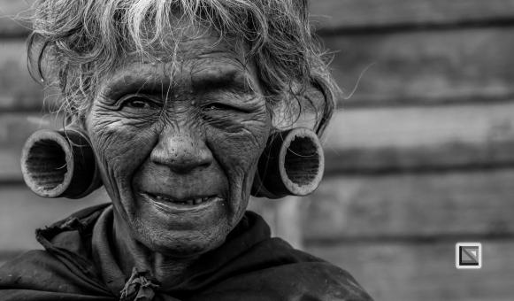 Myanmar Chin Tribe Portraits Black and White-26