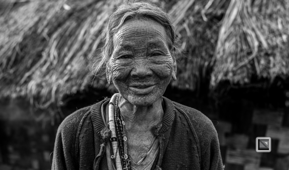 Myanmar Chin Tribe Portraits Black and White-27