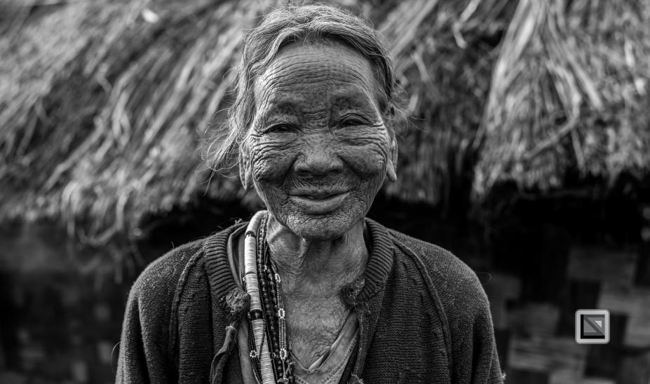 Myanmar Chin Tribe Portraits Black and White-27