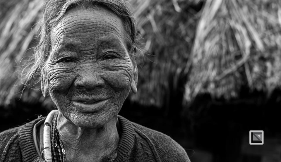 Myanmar Chin Tribe Portraits Black and White-28